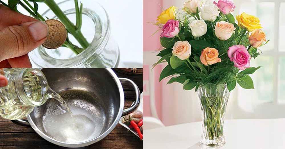 bí quyết giữ hoa tươi