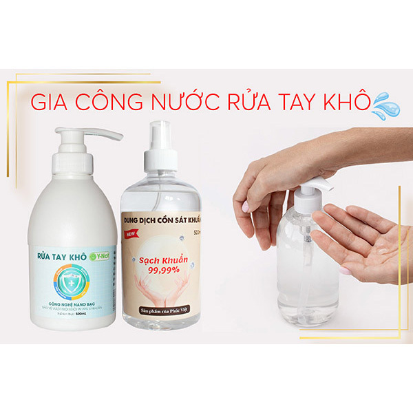 Gia công nước rửa tay khô